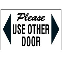 Please Use Other Door Label