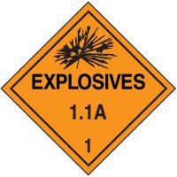 1.1A DOT Explosive Placards