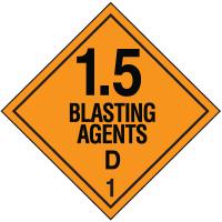 D DOT Explosive Placards
