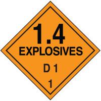 D1 DOT Explosive Placards