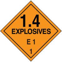 E1 DOT Explosive Placards