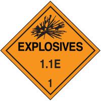 1.1E DOT Explosive Placards