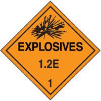 1.2E DOT Explosive Placards