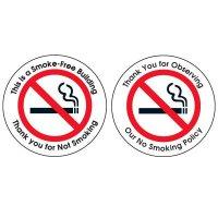 Smoke-Free Building Glass Door and Window Labels