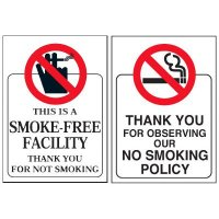 Smoke-Free Facility Door and Window Labels