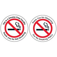 Smoke-Free Facility Glass Door and Window Labels