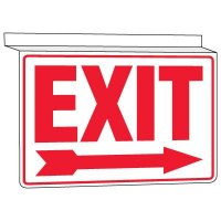 Drop Ceiling Exit Sign (Arrow Right)