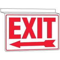 Drop Ceiling Exit Sign (Arrow Left)