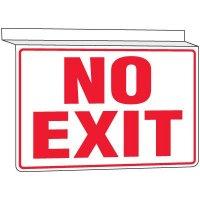 Drop Ceiling No Exit Sign