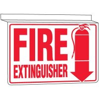 Drop Ceiling Fire Extinguisher Sign
