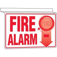 Drop Ceiling Fire Alarm Sign