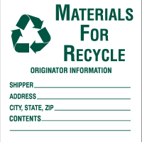 Drum Labels - Materials For Recycle