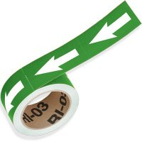 Green Directional Pipe Markers