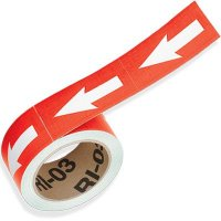 Red Directional Pipe Markers
