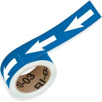 Blue Directional Pipe Markers