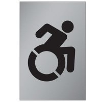 Dynamic Wheelchair Graphic - Brass And Aluminum Door Signs