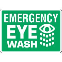 Eco-Friendly Signs - Emergency Eye Wash
