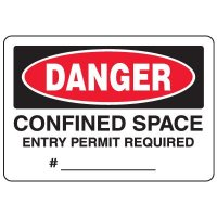 Danger Confined Space, Entry Permit Required - Eco-Friendly Signs