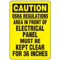 Eco-Friendly Signs - Caution OSHA Regulations Area