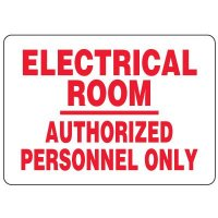 Eco-Friendly Signs - Electrical Room Authorized Personnel Only