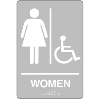 Economy Braille Signs - Women
