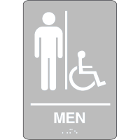 Man (Accessibility) - Economy Braille Signs