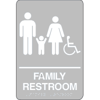 Economy Braille Signs - Family Restroom