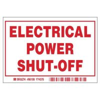 Brady 86199 Electric Power Shutoff Labels - Pack of 5