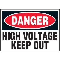 High Voltage Keep Out - Voltage Warning Labels