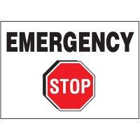 Emergency Stop - Voltage Warning Labels