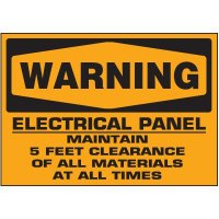 Voltage Warning Labels - Warning Electrical Panel