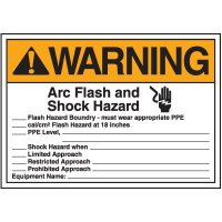 Arc Flash And Shock Hazard Electrical Label
