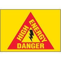 Voltage Warning Labels - Danger High Energy