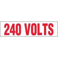 Voltage Warning Labels - 240 Volts