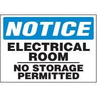 Voltage Warning Labels - Notice Electrical Room