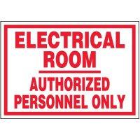Voltage Warning Labels - Electrical Room