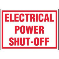 Voltage Warning Labels - Electrical Power Shut-Off