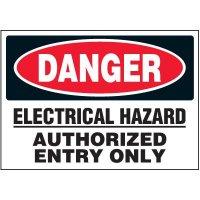 Danger Electrical Hazard - Voltage Warning Labels