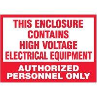 Voltage Warning Labels - High Voltage