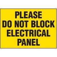Voltage Warning Labels - Do Not Block Panel