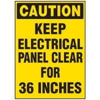 Electrical Safety Labels On A Roll - Caution Keep Electrical Panel