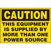 Electrical Safety Labels On A Roll - Caution This Equipment