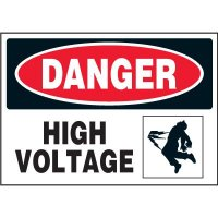 Electrical Safety Labels On A Roll - Danger High Voltage