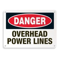 Electrical Safety Signs - Danger Overhead Power Lines