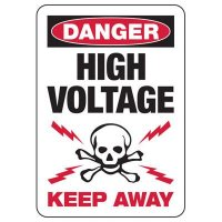 Electrical Safety Signs - Danger High Voltage Keep Away