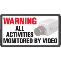 Electro-Viz Surveillance Safety Sign
