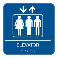 Elevator - Graphic Braille Signs