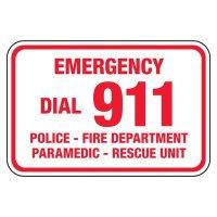 Emergency Dial 911 - Pool Signs