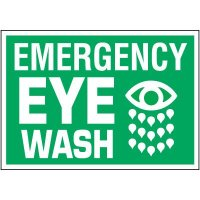 Emergency Eyewash Label