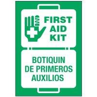 Bilingual First Aid Label